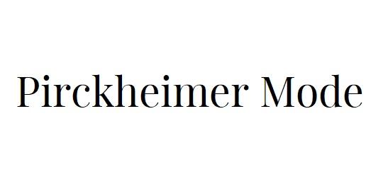 Pirckheimer Mode